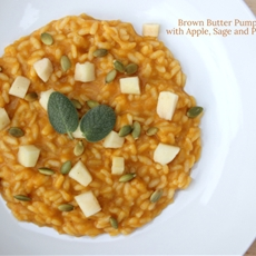BROWN BUTTER PUMPKIN RISOTTO WITH APPLE, SAGE AND PUMPKIN SEEDS
