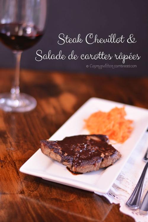 Steak Chevillot and Salade de carottes râpées
