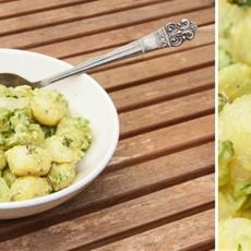 Herby and Creamy Potato Salad with Avocado