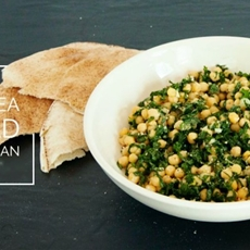 Zesty Chickpea and Kale Salad with Vegan Parmesan • The Greedy Ve
