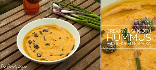 Creamy and Smooth Hummus with Smoked Paprika