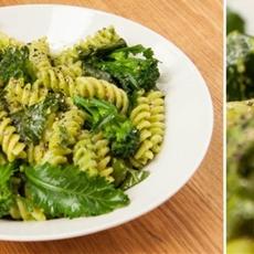 Pasta with Broccoli and Parsley Pesto • The Greedy Vegan