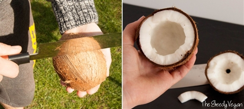 Homemade Coconut Milk From Whole Coconuts