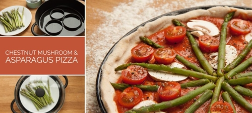 Chestnut Mushroom and Asparagus Pizza • The Greedy Vegan