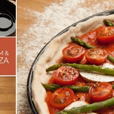 Chestnut Mushroom and Asparagus Pizza • The Greedy Vegan