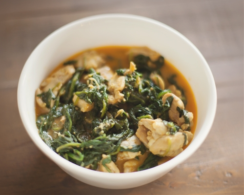 Coconut Chicken Spinach Curry