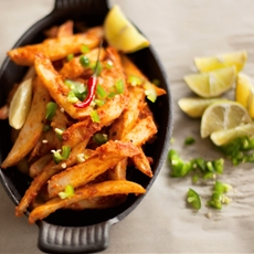 Spicy Oven Baked Masala Fries