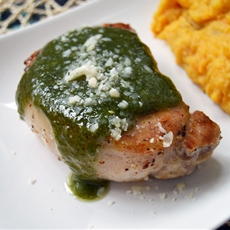 Pesto Pork Chops