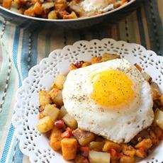 Savory Sweet Potato And Egg Breakfast Hash