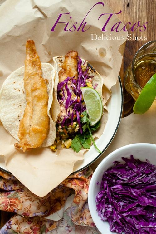 Crispy Fish Tacos w/ Corn Salad