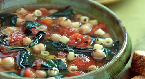 Tuscan Pasta and Chickpea Soup