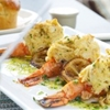 Stuffed Jumbo Shrimp with Garlic Butter