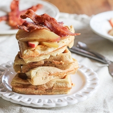 Cheddar, Apple and Bacon Waffles
