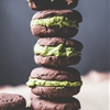 Vegan Chocolate Sandwich Cookies with Matcha Cashew Filling
