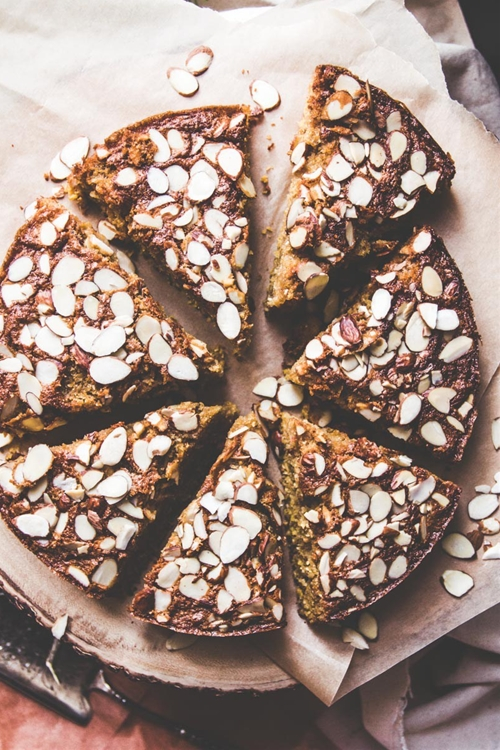 Cardamom Brown Butter Almond Cornmeal Cake