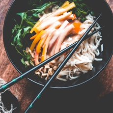 Rice Noodle Salad with Lime Tahini Dressing