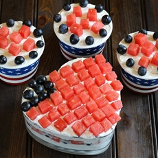 PATRIOTIC FRUIT AND CREAM