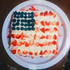 Strawberry America Cake