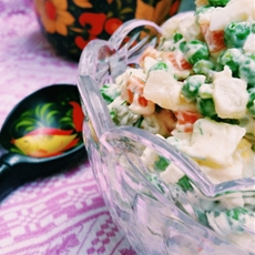 "Russian Style Potato Salad ""Salat Olivier"""