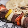 Beef Skewers with Red Pepper, Onion and Bacon