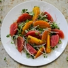 Beet and Microgreen Salad with Grapefruit Vinaigrette