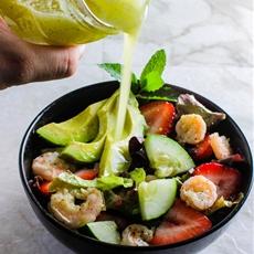 Honey Lime Shrimp Salad with Mint Lime Dressing