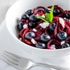 "Beet ""Noodle"" Salad with Blueberries & Goat Cheese"