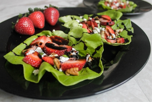 Strawberry Balsamic Lettuce Wraps