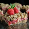 Raw Raspberry Crumb Bars