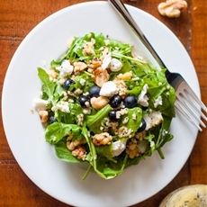 Arugula and Blueberry Salad with Lemon Poppyseed Vinaigrette