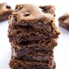 Rolo Stuffed Gingerbread Blondies