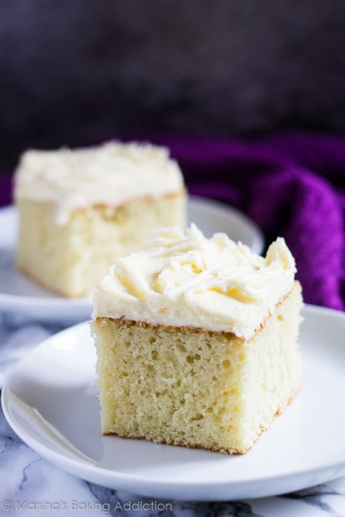 Perfect Vanilla Sheet Cake