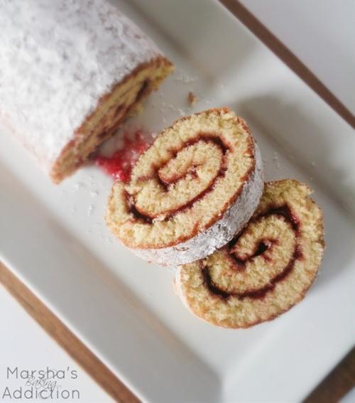 Raspberry Jam Swiss Roll