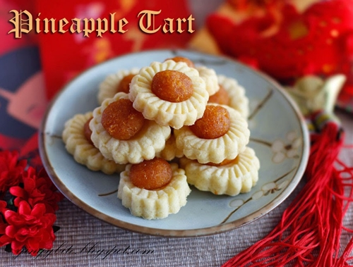 Open Face Flower Pineapple Tart