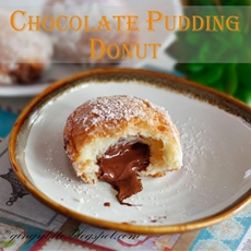 Copycat Dunkin Donut Choc Pudding Donut ????????