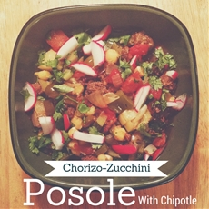 Chorizo-Zucchini Posole with Chipotle
