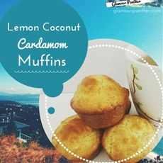 Lemon Coconut Cardamom Muffins