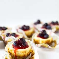 Mini Lemon Berry Cheesecakes