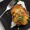 Twice-Cooked Latkes with Shallot Cream