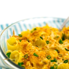 Spicy 4-Cheese Crab Pasta