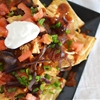 Chicken Bacon Nachos with Root Beer BBQ Sauce
