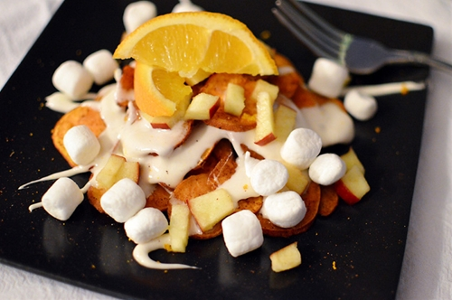Dessert Sweet Potato Nachos