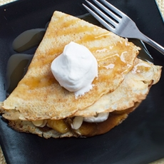 Amaretto Crepes & Banana