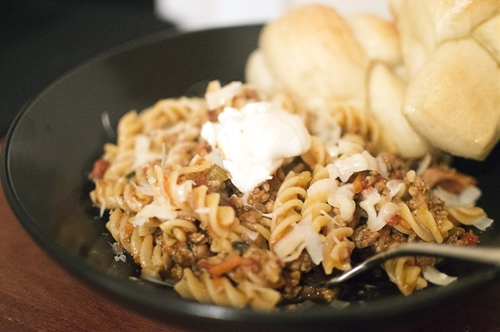 Fusilli with Pork Sausage Ragu