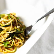 Moroccan Zoodles with a Tomato-Harissa Sauce