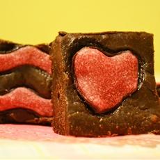 Valentines heart Kashmiri chilli brownies