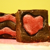 Valentines heart Kashmiri chilli brownies