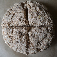 Thyme and walnut soda bread