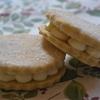 Coconut and lychee custard creams