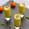 Yellow tomato gazpacho shots